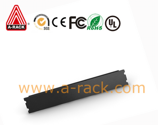 1U Black Modular Toolless Airflow Management Blanking Panel